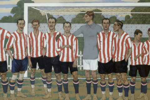 José Arrue. Equipo del Athletic Club, 1915- Colección Athletic Club Museoa-ren Bilsduma.
