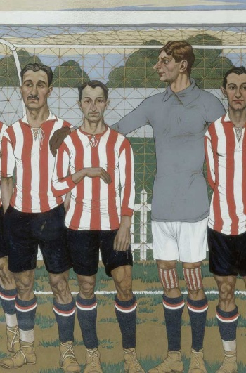 José Arrue. Équipe de l'Athletic Club de Bilbao, 1915 - Collection Athletic Club Museoa-ren Bilsduma.